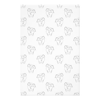 Schwarzweiss-Elefant-Muster Büropapier