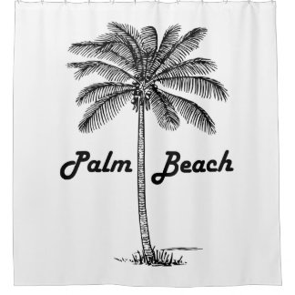 Schwarzweiss-Entwurf des Palm Beach Florida u. der Duschvorhang