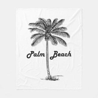 Schwarzweiss-Entwurf des Palm Beach Florida u. der Fleecedecke