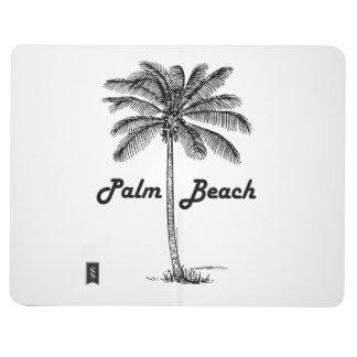 Schwarzweiss-Entwurf des Palm Beach Florida u. der Taschennotizbuch