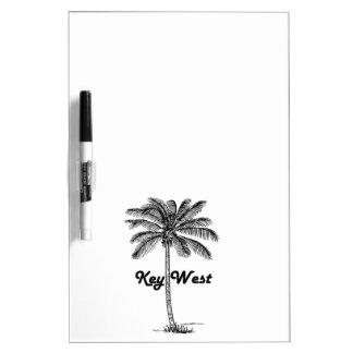Schwarzweiss-Entwurf Key Wests Florida u. der Memoboard