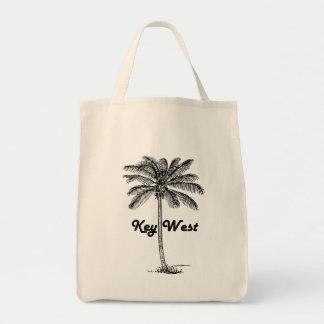 Schwarzweiss-Entwurf Key Wests Florida u. der Tragetasche