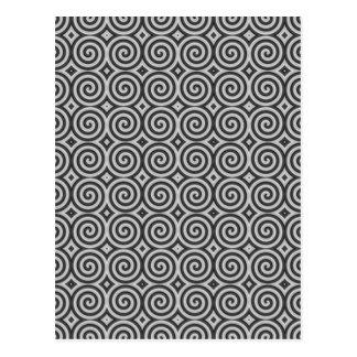 Schwarzweiss-Entwurf. Muster von Spiralen Postkarte