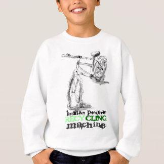 Schwarzweiss-Fahrrad mit Grün recyceln Text Sweatshirt