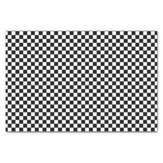 Schwarzweiss-Farbe des Schachbrett-Brett-| DIY Seidenpapier