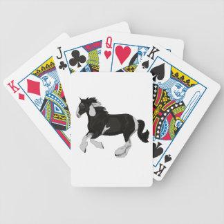 Schwarzweiss-Farbepinto-Sinti und Roma Vanner Bicycle Spielkarten