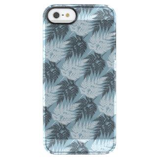 Schwarzweiss-Farn-Silhouette-Muster Durchsichtige iPhone SE/5/5s Hülle