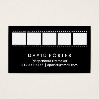 Schwarzweiss-Film-Streifen Visitenkarte