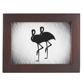 Schwarzweiss-Flamingo Erinnerungsdose