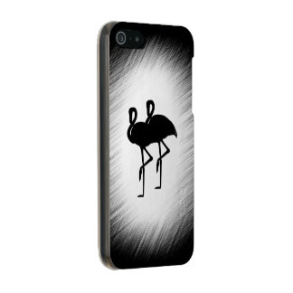Schwarzweiss-Flamingo Incipio Feather® Shine iPhone 5 Hülle