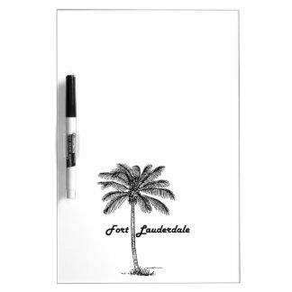 Schwarzweiss-Fort Lauderdale- u. Palmenentwurf Memoboard