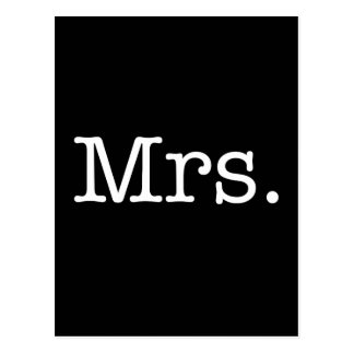 Schwarzweiss-Frau Hochzeitstag-Zitat Postkarte