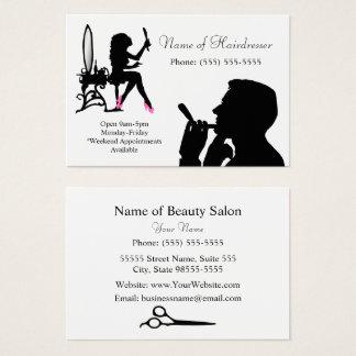 Schwarzweiss-Friseur für Männer und Frauen Visitenkarte