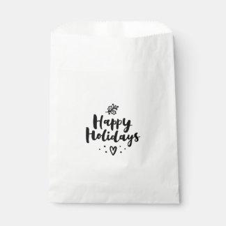 Schwarzweiss frohe Feiertage Geschenktütchen