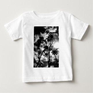 Schwarzweiss-Gänseblümchen Baby T-shirt