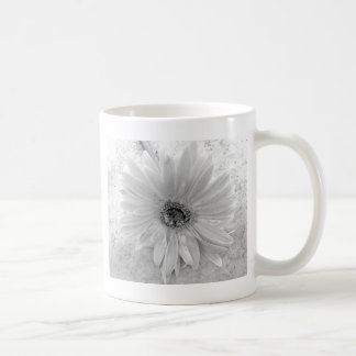 Schwarzweiss-Gänseblümchen Teetassen