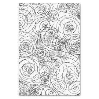 Schwarzweiss-Gekritzel-Kunst-Seidenpapier Seidenpapier