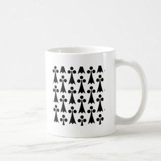 Schwarzweiss-gemustertes Kaffeetasse