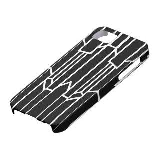 Schwarzweiss-Geo-Kaskade iPhone 5 Hülle