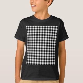 Schwarzweiss-Gingham-Karos T-Shirt