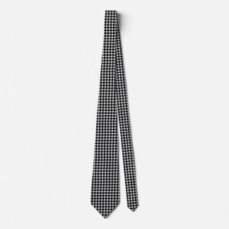 Schwarzweiss-Gingham kundengerecht Krawatte