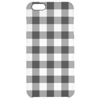 Schwarzweiss-Gingham-Muster Durchsichtige iPhone 6 Plus Hülle