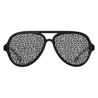 Schwarzweiss-Giraffen-Druck-Tier-Muster Partybrille