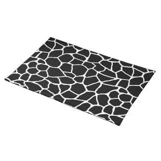 Schwarzweiss-Giraffen-Druck-Tier-Muster Tischset