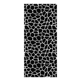 Schwarzweiss-Giraffen-Druck-Tier-Muster Werbekarte