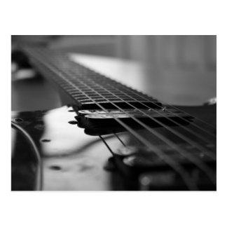 Schwarzweiss-Gitarre Postkarte
