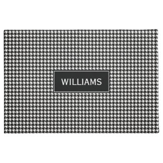 Schwarzweiss-Hahnentrittmuster-Muster Doormat