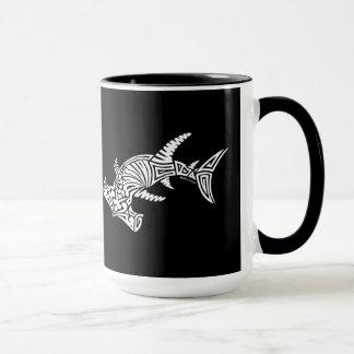 Schwarzweiss-Hammerhai-Tasse Tasse