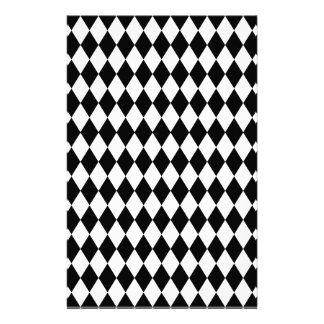 Schwarzweiss-Harlekin-Muster Briefpapier