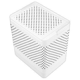 Schwarzweiss-Herz-Muster Igloo Kühlbox