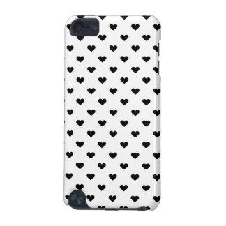 Schwarzweiss-Herz-Muster iPod Touch 5G Hülle