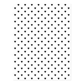 Schwarzweiss-Herz-Muster Postkarten