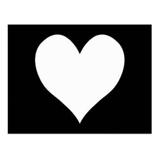 Schwarzweiss-Herz Postkarten