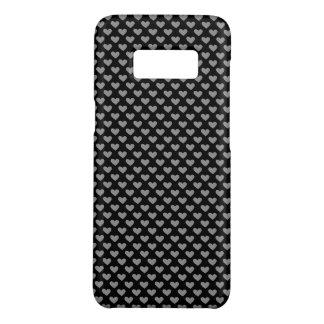 Schwarzweiss-Herzpatten-Kasten Case-Mate Samsung Galaxy S8 Hülle