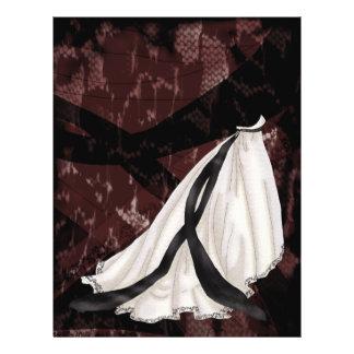 Schwarzweiss-Hochzeits-Kleid 21,6 X 27,9 Cm Flyer