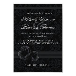 Schwarzweiss-Hochzeitseinladungen mit UAWG Karte