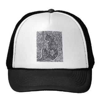 Schwarzweiss-Hut der Katzen-1 Kult Cap