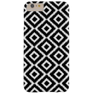 Schwarzweiss-Ikat Diamanten Barely There iPhone 6 Plus Hülle