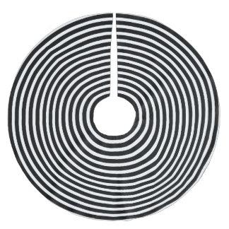 Schwarzweiss-Illusions-Kreise Polyester Weihnachtsbaumdecke