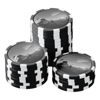 Schwarzweiss-Island im Winter Poker Chips Set