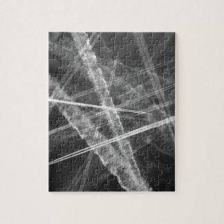 Schwarzweiss-Jet-Spuren Puzzle