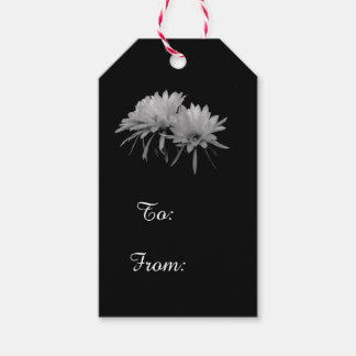 Schwarzweiss-Kaktusblüte Geschenkanhänger