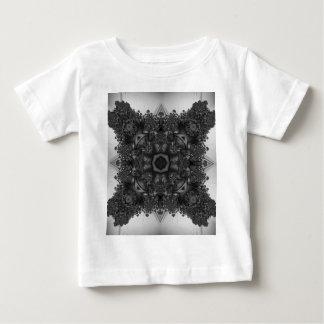 Schwarzweiss-Kaleidoskop-Fraktal 3 Baby T-shirt