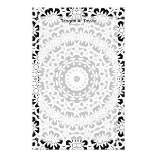 Schwarzweiss-Kaleidoskop-Muster II Bedrucktes Papier