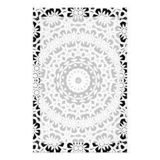 Schwarzweiss-Kaleidoskop-Muster II Individuelles Büropapier
