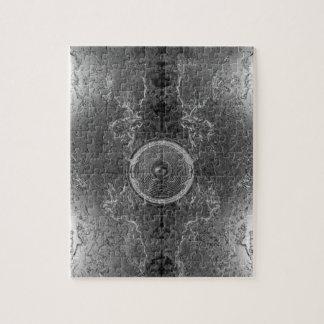 Schwarzweiss-Kaleidoskopmusik-Lautsprecher Puzzle